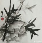 """陈奇飞日志-国画水墨花鸟画""""梅、兰、竹、菊""""小品一套,尺寸50*50cm【图3】"""