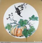 王君永日志-近期画了一批花鸟画斗方,尺寸50*50cm,请欣赏【图4】