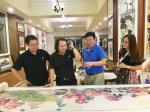 叶仲桥生活-昨天晚上(7月9日),中国石材石刻委员会领导一行到访我的工作【图1】