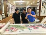 叶仲桥生活-昨天晚上(7月9日),中国石材石刻委员会领导一行到访我的工作【图2】