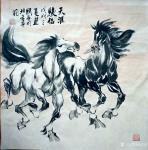 刘建国日志-画马,画马,《天涯俊侣》《春回草原》《千里之行始于足下》《踏【图1】