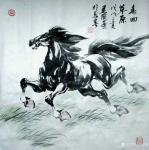 刘建国日志-画马,画马,《天涯俊侣》《春回草原》《千里之行始于足下》《踏【图2】