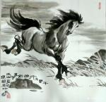 刘建国日志-画马,画马,《天涯俊侣》《春回草原》《千里之行始于足下》《踏【图3】