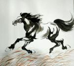 刘建国日志-画马,画马,《天涯俊侣》《春回草原》《千里之行始于足下》《踏【图4】
