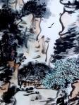 """龚光万日志-国画写意山水画""""万壑烟光动,千林雨气通。五冠西畔九龙东。水墨【图2】"""