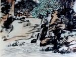 """龚光万日志-国画写意山水画""""万壑烟光动,千林雨气通。五冠西畔九龙东。水墨【图4】"""