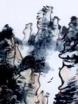 """龚光万日志-国画写意山水画""""万壑烟光动,千林雨气通。五冠西畔九龙东。水墨【图5】"""