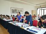 许贵才生活-在北京市房山区长阳美术馆教国画课!大家学习都非常认真。【图4】
