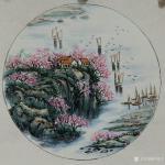 许贵才日志-近期画的国画山水画斗方《春》《夏》《秋》《冬》,尺寸50*5【图1】