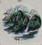 许贵才日志-近期画的国画山水画斗方《春》《夏》《秋》《冬》,尺寸50*5【图2】