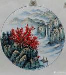 许贵才日志-近期画的国画山水画斗方《春》《夏》《秋》《冬》,尺寸50*5【图3】