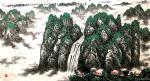 叶向阳日志-翰墨颂中华:《春山飞鸟银瀑鸣博览群书馆中丰桃李芬芳遍中外万千【图2】