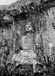 马培童日志-黑白力量、滋养灵魂。   爱上焦墨,画中国四大石窟,与佛教【图4】