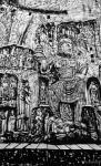 马培童日志-黑白力量、滋养灵魂。   爱上焦墨,画中国四大石窟,与佛教【图5】