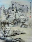 陈刚日志-《雪山冰挂》《晨雪》,国画山水画40×60cm,想象篇,请欣【图1】