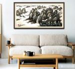 叶向阳日志-翰墨颂中华:《群峰耸翠山雨过银瀑飞流水风生》国画山水画。恭请【图1】