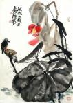 甘庆琼日志-私人订制《清风》,国画写意花鸟画近期客户订制作品四幅,荷花、【图2】