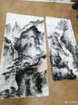 周丽日志-国画山水画《溪山垂钓图》,尺寸68x138cm,《海上奇观》【图3】