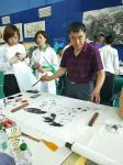 刘建国日志-东北亚国际金融中心书画展笔会,现场绘制作品《马到成功》《与你【图2】