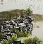 刘娟日志-《寒鸦万点闹夕阳》国画山水画斗方60*60cm【图1】