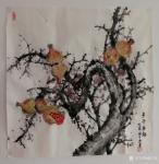 韩宗华日志-金秋画作《事事如意》,《多子多福》,《硕果累累》,柿子、石榴【图2】