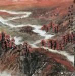 陈秀梅日志-近期创作了一幅四尺斗方《塞上秋声》,一幅八尺条屏《红树醉山乡【图1】