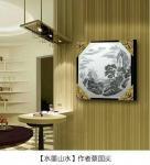 蔡国英日志-《水墨山水》画,尺寸60x60cm 分享:时间长了, 谁【图3】