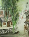 陈刚日志-江南写生之《忆江南》,尺寸40x60cm,《秋林放牧图》,尺【图2】