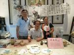 徐如茂生活-近期画的国画葡萄和荷花很受游客欢迎,现场订制,购买后喜笑颜开【图4】
