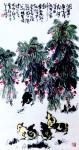 """龚光万日志-今作国画《凤仙花》一纸,""""洞箫一曲是谁家?河汉西流月半斜。要【图1】"""