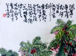 """龚光万日志-今作国画《凤仙花》一纸,""""洞箫一曲是谁家?河汉西流月半斜。要【图2】"""