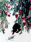 """龚光万日志-今作国画《凤仙花》一纸,""""洞箫一曲是谁家?河汉西流月半斜。要【图3】"""