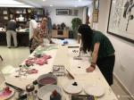 汪琼生活-在黄山卫康作画掠影……创作了《神仙图》,国画花鸟画,尺寸50【图4】