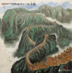 叶向阳日志-翰墨颂中华:《龙脊》国画山水画尺寸六尺斗方98x98cm。恭【图1】