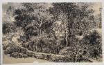 阎敏日志-国画写生山水画作品《山村》《峡谷秋风》《雨后》。潘天寿:学画【图4】