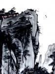 龚光万日志-国画写意山水画新作品《泉壑带茅茨,云霞生薜帷。竹怜新雨后,山【图4】