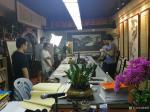 粟盛林荣誉-9月11日深圳广播电视台采访拍摄中。现场绘制国画花鸟画《竹报【图2】