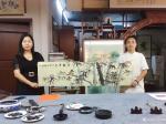 粟盛林荣誉-9月11日深圳广播电视台采访拍摄中。现场绘制国画花鸟画《竹报【图3】