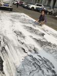 粟盛林日志-这炎热的夏天在室外绘画就是汗水、雨水、自来水加彩墨之间的相互【图1】