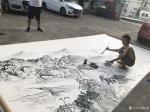 粟盛林日志-这炎热的夏天在室外绘画就是汗水、雨水、自来水加彩墨之间的相互【图4】