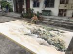 粟盛林日志-这炎热的夏天在室外绘画就是汗水、雨水、自来水加彩墨之间的相互【图5】