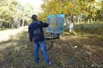 张健生活-我在内蒙古乌兰布统蛤蟆坝写生,这里的天蓝得如画家笔下的画【图1】
