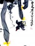 龚光万日志-国画写意花鸟画《  丝瓜  • 鸡雏 》,附局部图,尺寸四尺【图5】