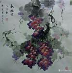卢俊良日志-国画花鸟画葡萄系列《秋满园》,《暗送秋波》,《紫气东来》,《【图1】