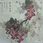 卢俊良日志-国画花鸟画葡萄系列《秋满园》,《暗送秋波》,《紫气东来》,《【图3】