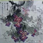 卢俊良日志-国画花鸟画葡萄系列《秋满园》,《暗送秋波》,《紫气东来》,《【图4】
