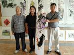 叶仲桥日志-与老干大学一众师生书画交流,共度国庆节!【图3】