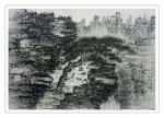 杨振华日志-国画山水画新作两幅《松瀑琴声》,《溪山归隐》,尺寸60*80【图1】
