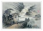 杨振华日志-国画山水画新作两幅《松瀑琴声》,《溪山归隐》,尺寸60*80【图2】