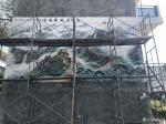 粟盛林日志-国画山水巨幅墙画《万里长城龙腾云》基本完工,国庆大家去旅行,【图4】